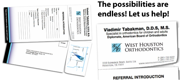 Orthodontic RIP or orthodontic tear off card