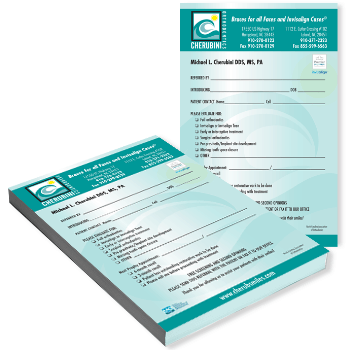 referral notepad printing