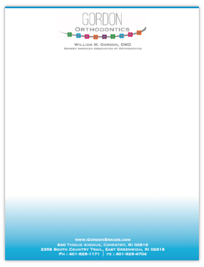 Orthodontic Letterhead For Your Practice – Full Color