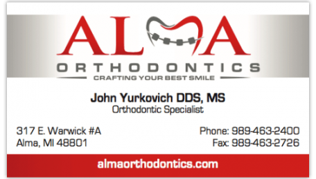 Alma_Orthodontist_business_cards