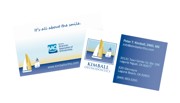 Kimball Orthodontics Business Card