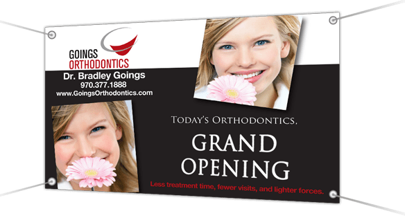 orthodontic vinyl banner