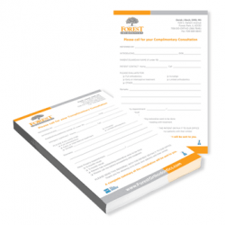 orthodontic referral notepads